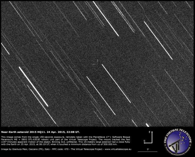 Near-Earth asteroid 2015 HQ11: 24 April 2015