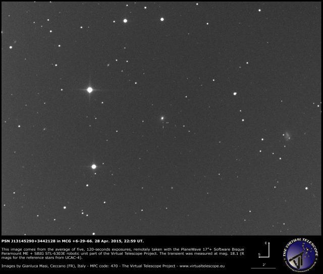PSN J13145290+3442128 in MCG +6-29-66: 28 Apr. 2015