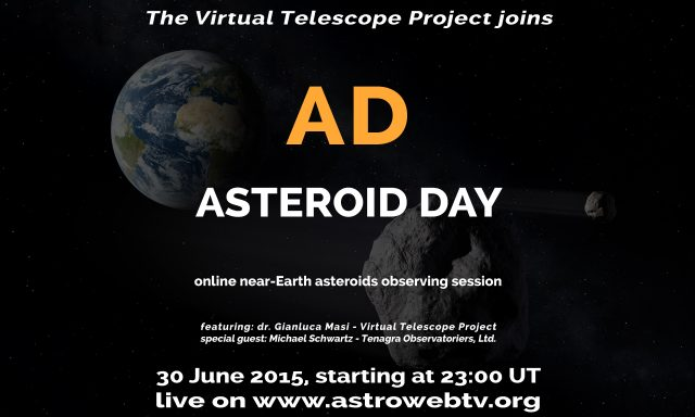 "Live event for ""Asteroid Day"": poster"