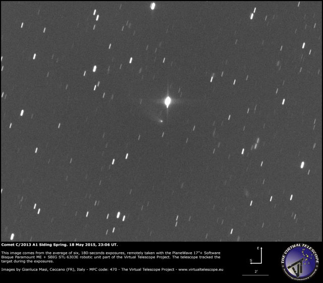Comet C/2013 A1 Siding Spring: 18 May 2015