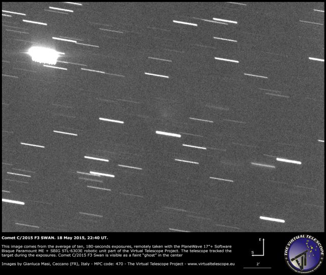 Comet C/2015 F3 Swan: 18 May 2015