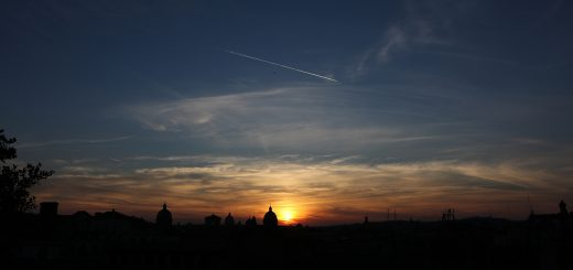 Sunset on Rome from Piazzale Caffarelli, waiting for Venus and Jupiter: 29 June 2015