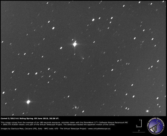 Comet C/2013 A1 Siding Spring: 05 June 2015