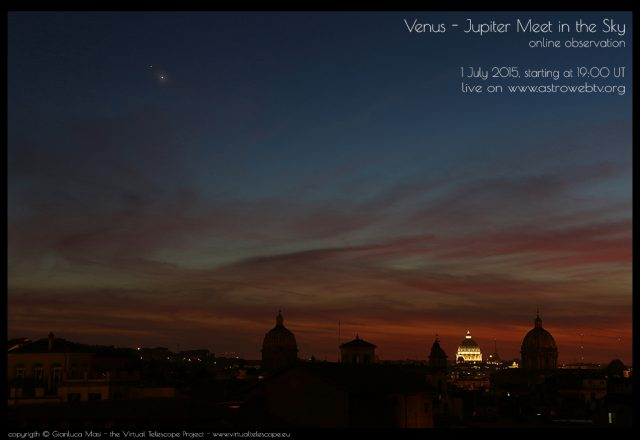 Venus -Jupiter 2015 Conjunction: event poster