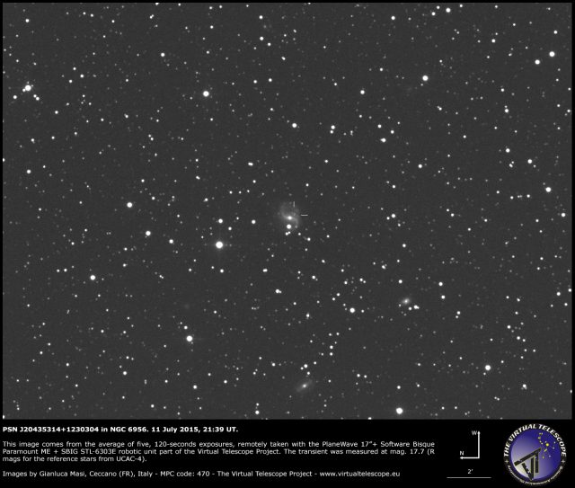 PSN J20435314+1230304 in NGC 6956: 11 July 2015