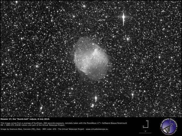Messier 27, also known as NGC 6853.