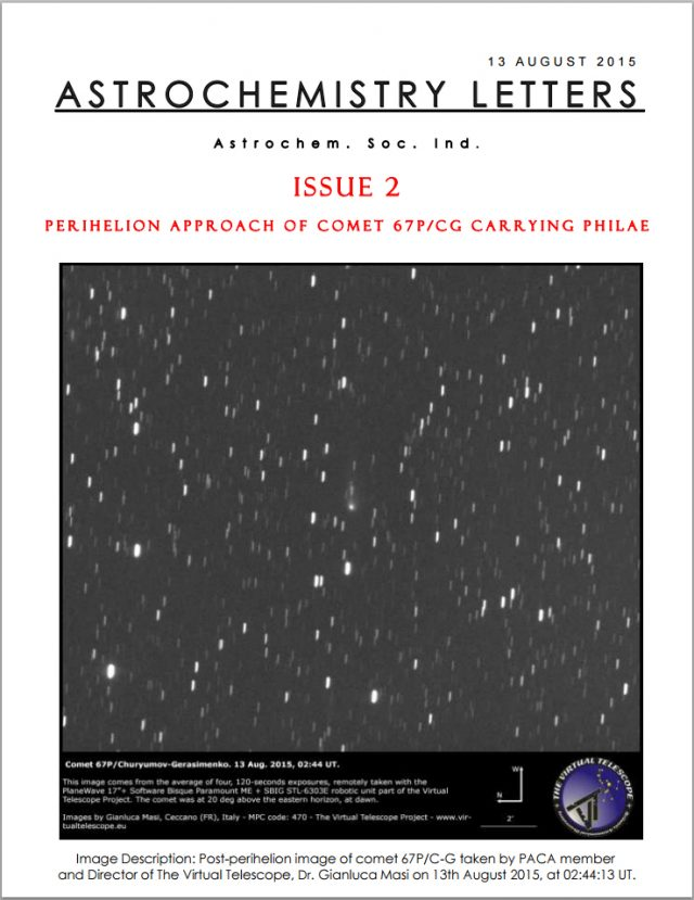 """Astrochemistry Society of India: """"Astrochemistry Letters"""", issue 2"""