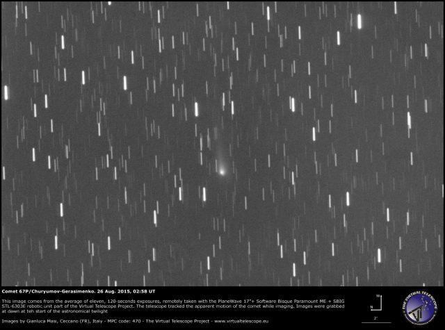 Comet 67P/Churyumov-Gerasimenko: a image (26 Aug. 2015)