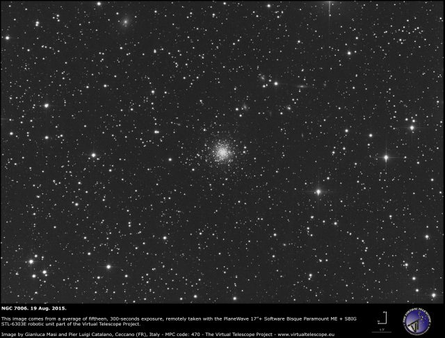 NGC 7006 in Delphinus: an image