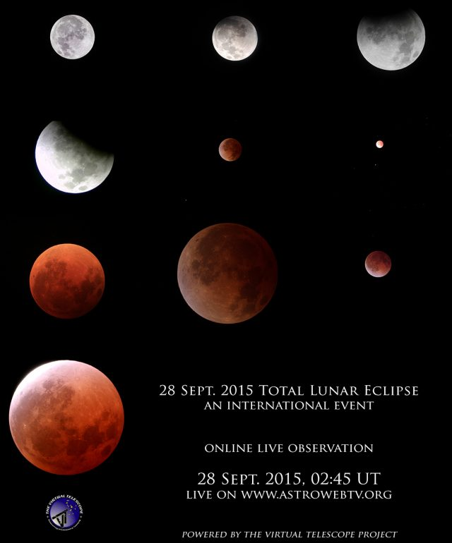 28 September 2015 Total Lunar Eclipse: poster