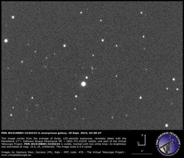 PSN J01510869+3155215 in anonymous galaxy: 19 Sept. 2015