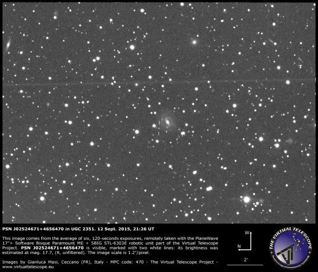 PSN J02524671+4656470 in UGC 2351: 12 Sept. 2015