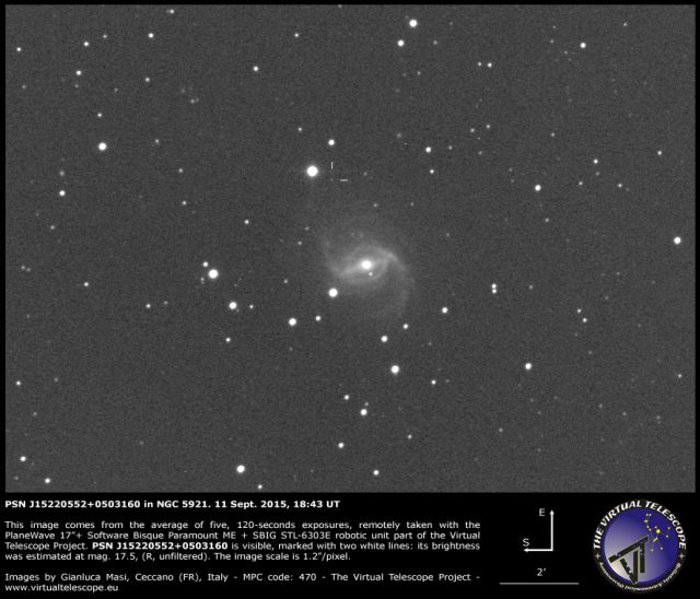 PSN J15220552+0503160 in NGC 5921: 11 Sept. 2015