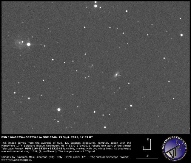 PSN J16495254+5532345 in NGC 6246: 19 Sept. 2015