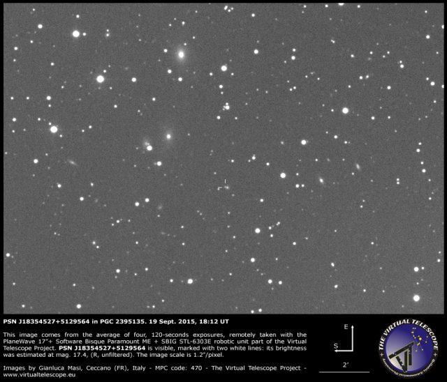 PSN J18354527+5129564 in PGC 2395135: 19 Sept. 2015