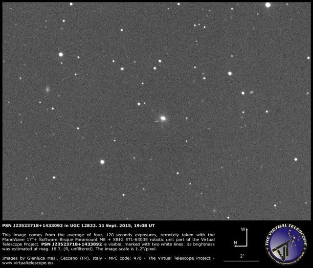 PSN J23523718+1433092 in UGC 12822: 11 Sept. 2015