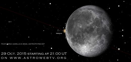 29 Oct. 2015, the Moon meets Aldebaran: online session