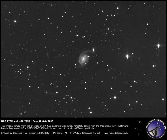 NGC 7752 and NGC 7753 in Pegasus