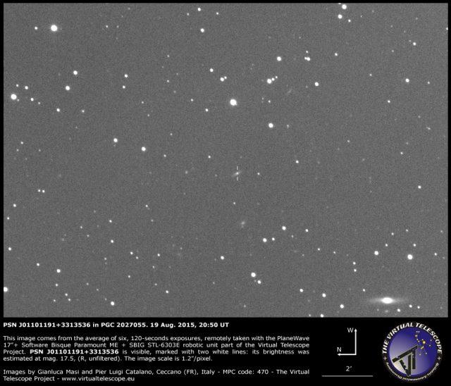 PSN J01101191+3313536 in PGC 2027055: 19 Aug. 2015