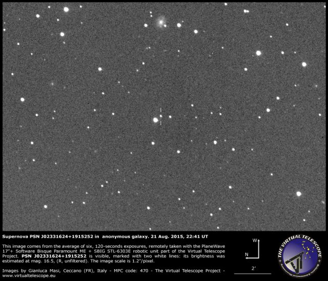 Supernova PSN J02331624+1915252 in  anonymous galaxy: 21 Aug. 2015