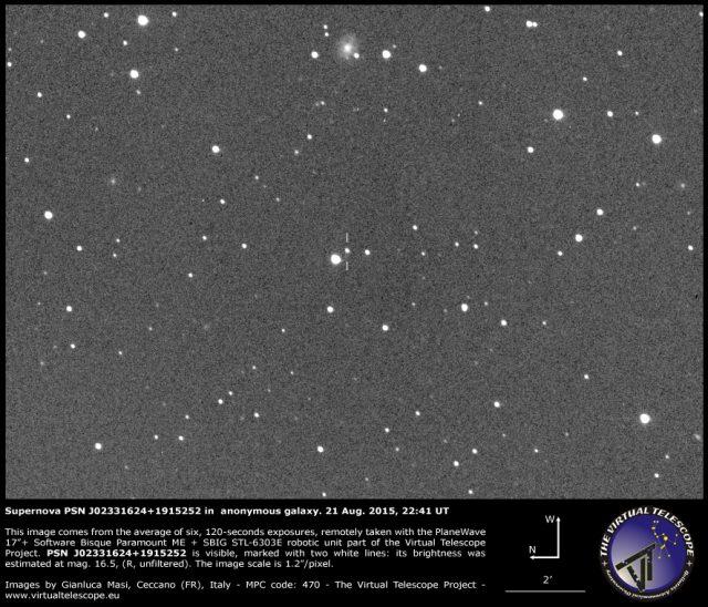 Supernova PSN J02331624+1915252 in  anonymous galaxy: 21 Aug. 2015