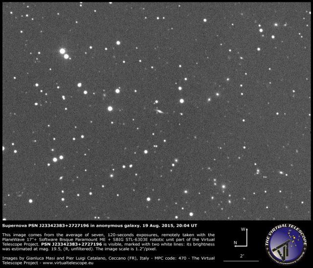 Supernova PSN J23342383+2727196 in anonymous galaxy: 19 Aug. 2015