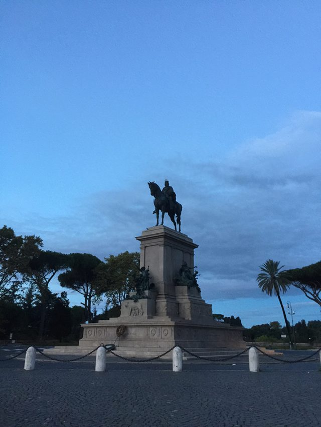 Monument to Giuseppe Garibaldi, at Gianicolo, Rome