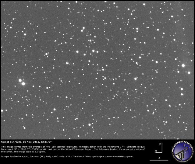 Comet 81P/Wild: 06 Nov. 2015