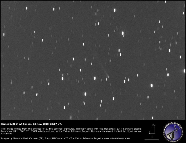 Comet C/2014 A4 Sonear: 2 Nov. 2015
