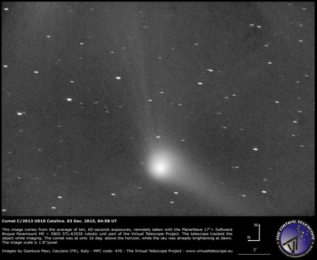 Comet C/2013 US10 Catalina: 03 Dec. 2015