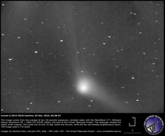 Comet C/2013 US10 Catalina: 03 Dec. 2015