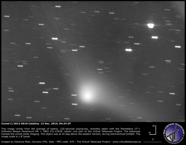 Comet C/2013 US10 Catalina: 12 Dec. 2015