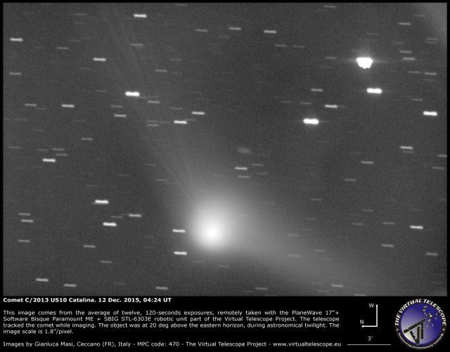 Comet C/2013 US10 Catalina: 12 Dec. 2015
