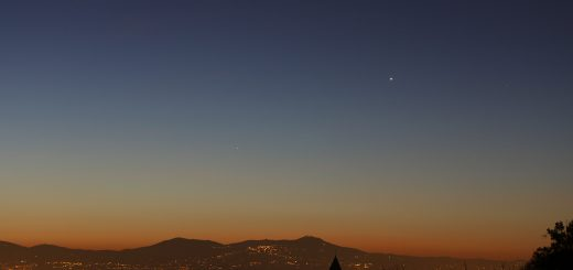 Venus and Mercury are gently brightening among wonderful colors, once the Sun is almost rising - 1 Feb. 2016