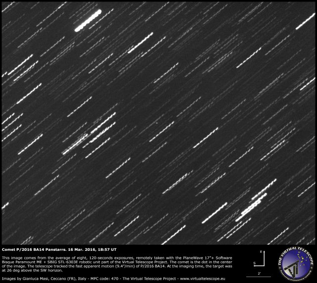 Comet P/2016 BA14 Panstarrs: an image - 16 Mar. 2016