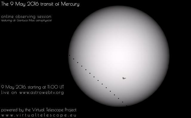 The 9 May 2016 transit of Mercury : online observing session - poster of the event
