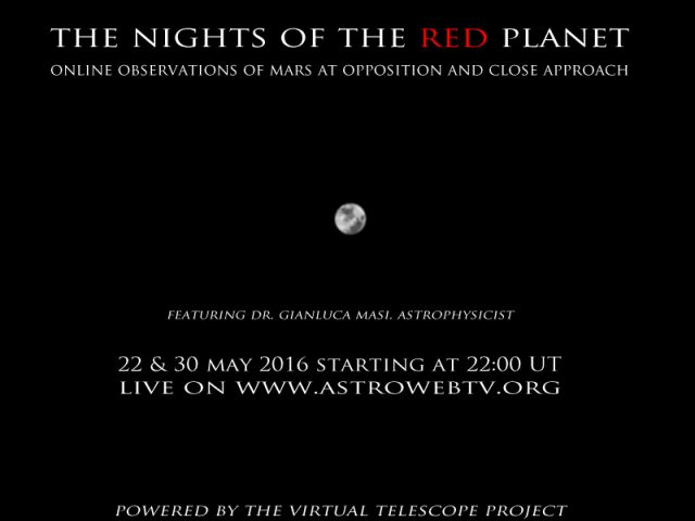 """The Night of the Red Planet"": poster of the event"