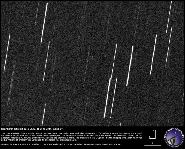 Near-Earth Asteroid 2016 LK49 close encounter: 15 June 2016