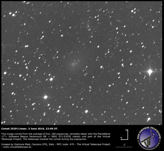 Comet 252P/Linear: 03 June 2016