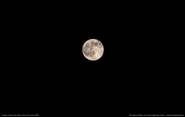 Summer Solstice Full Moon: lunar craters and seas