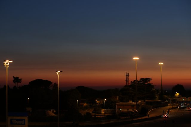 Venus and Jupiter approaching their conjunction - Rome, 26 Aug. 2016