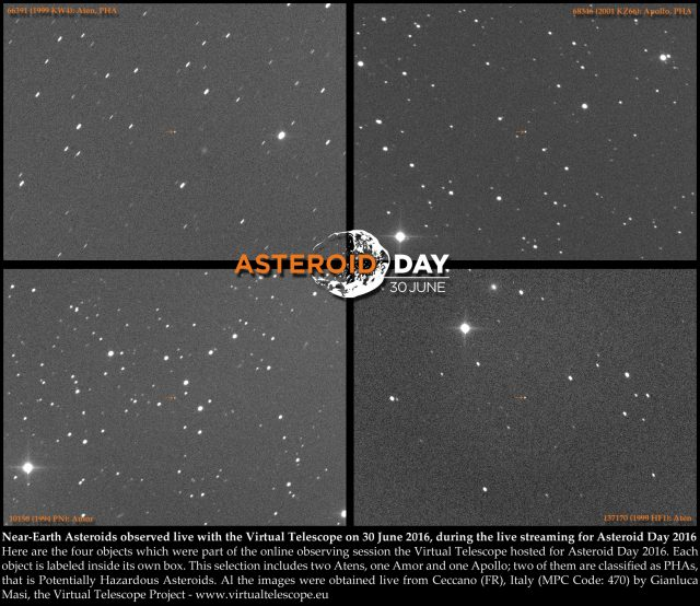Asteroid Day 2016: observed near-Earth Asteroids