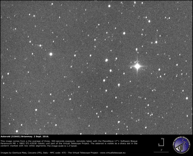 Asteroid (52665) Brianmay, named after Brian May, Queen's guitarist and astrophysicist