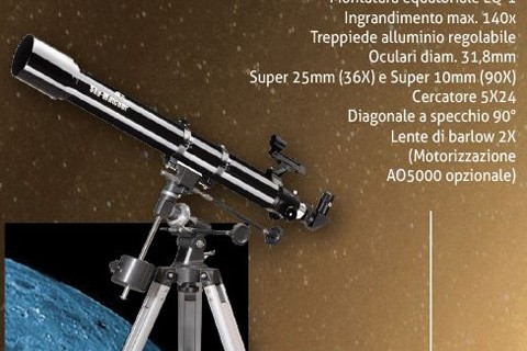 Telescopio completo Rifrattore 70/900 EQ1 SKYWATCHER