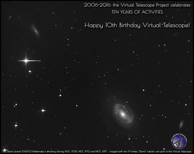 10th Birthday of the Virtual Telescope Project