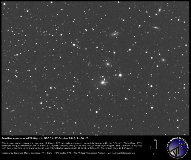 Possible supernova AT2016gxp in NGC 51: 07 October 2016