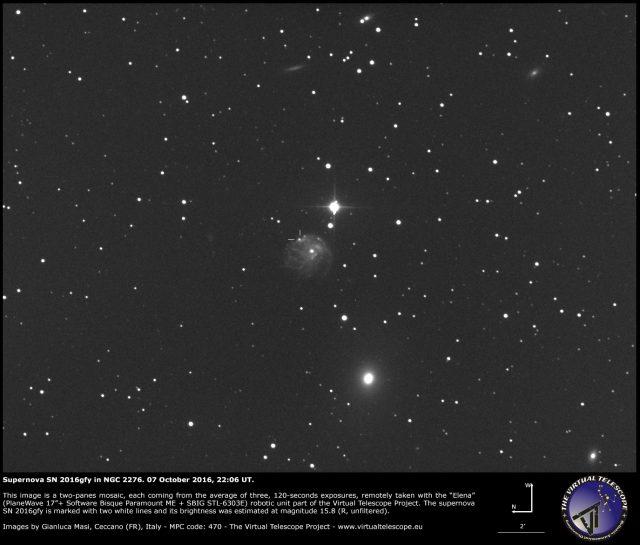 Supernova SN 2016gfy in NGC 2276: 07 October 2016