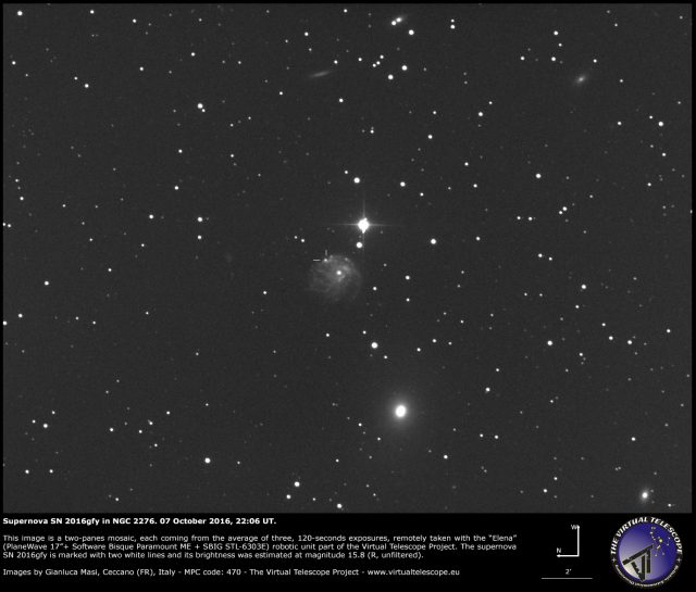 Supernova SN 2016gfy in NGC 2276: 07 October 2016