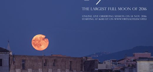 """""""Supermoon!"""": poster of the event"""