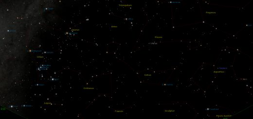 Star Chart: 15 Dec. 2016, 08:30 PM for (13°E,41°N): south
